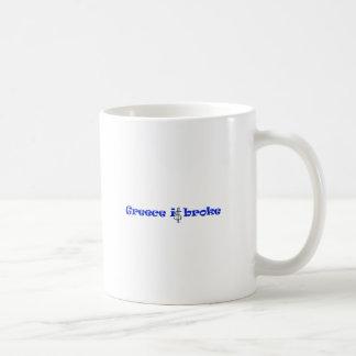 Greece is broke coffee mugs