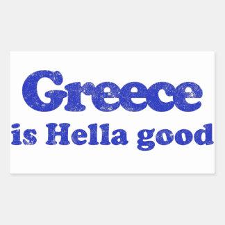Greece is Hella Good Rectangular Sticker