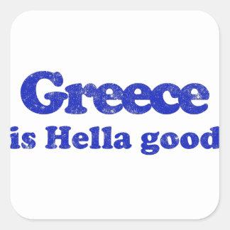Greece is Hella Good Square Sticker