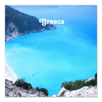 Greece Landscape 13 Cm X 13 Cm Square Invitation Card