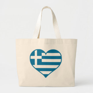 Greece Love Large Tote Bag