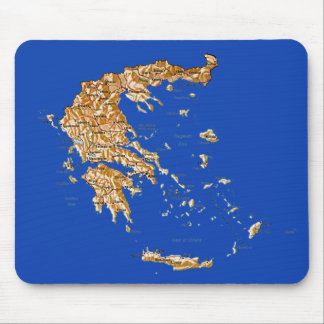 Greece Map Mousepad