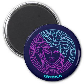 Greece Medusa 6 Cm Round Magnet