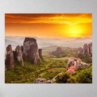 Greece Mountains Travel Inspirational Poster
