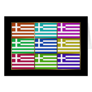 Greece Multihue Flags Greeting Card