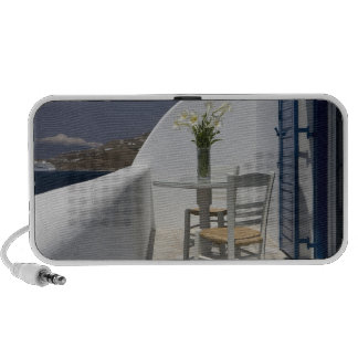 Greece Mykonos Hora Balcony table and chairs Travelling Speaker