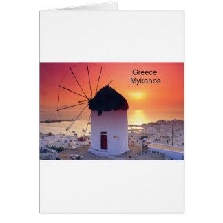 Greece Mykonos Sunset (St.K) Card
