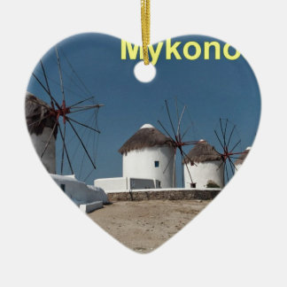Greece Mykonos Windmills (Aggel) Christmas Ornament
