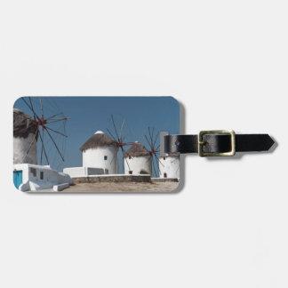 Greece Mykonos Windmills (Aggel) Luggage Tag