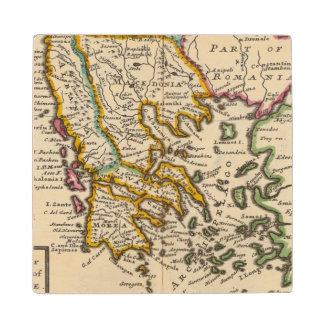 Greece or the south part of Turkey in Europe Maple Wood Coaster