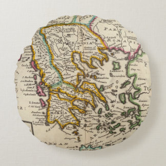 Greece or the south part of Turkey in Europe Round Cushion