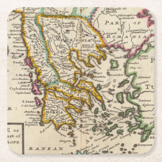 Greece or the south part of Turkey in Europe Square Paper Coaster