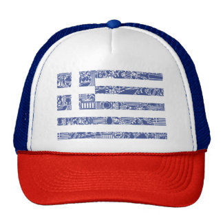 Greece Printed Tattoo Totem Country Flag Cap