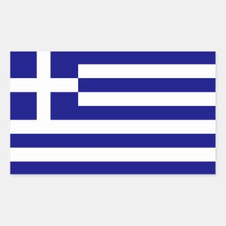GREECE RECTANGULAR STICKER