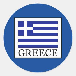 Greece Round Sticker