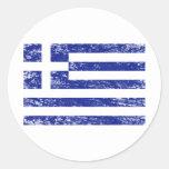 Greece Round Stickers