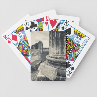 Greece, ruins of ancient city bicycle playing cards