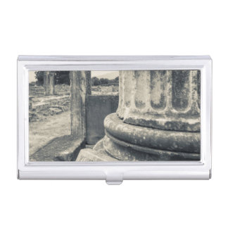 Greece, ruins of ancient city business card holder