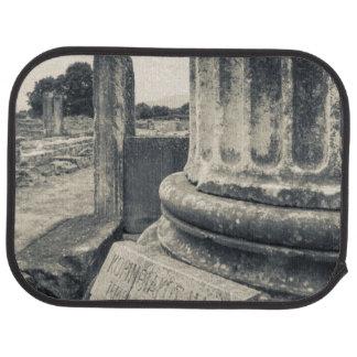 Greece, ruins of ancient city car mat