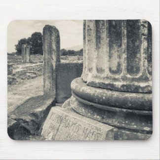 Greece, ruins of ancient city mouse mat