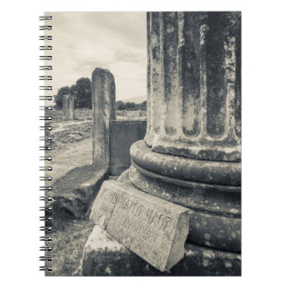 Greece, ruins of ancient city notebook