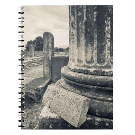 Greece, ruins of ancient city notebooks