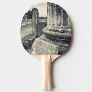Greece, ruins of ancient city ping pong paddle