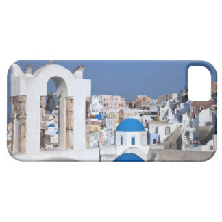 Greece, Santorini. Bell tower and blue domes of 2 iPhone 5 Cases