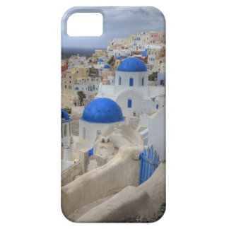 Greece, Santorini. Bell tower and blue domes of 3 iPhone 5 Cases