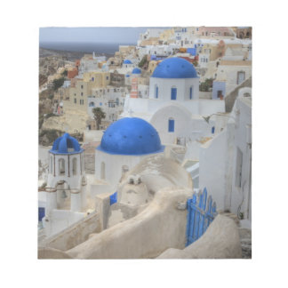 Greece, Santorini. Bell tower and blue domes of 3 Notepad