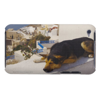 Greece, Santorini Island, Oia City, dog sleeping Barely There iPod Cases