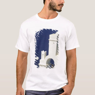 Greece, Santorini. View of a Greek church and T-Shirt