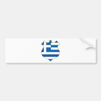 Greece-shield.png Bumper Sticker