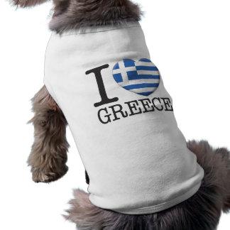 Greece Sleeveless Dog Shirt