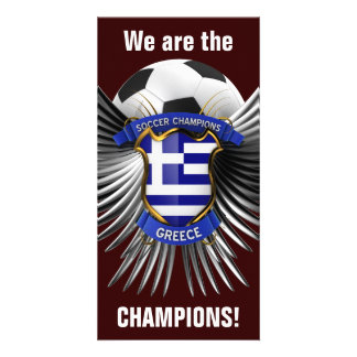 Greece Soccer Champions Photo Greeting Card