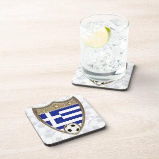 Greece Soccer Coaster
