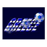 Greece soccer flag of Greece football logo Postcard
