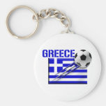 Greece Soccer logo Greek flag football gifts Key Chain