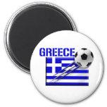 Greece Soccer logo Greek flag football gifts Magnet
