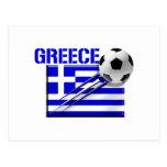 Greece Soccer logo Greek flag football gifts Postcard