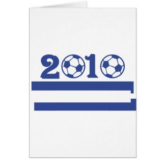 greece soocer 2010 greeting cards