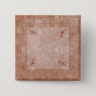greece square design 15 cm square badge