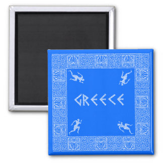 greece square magnet