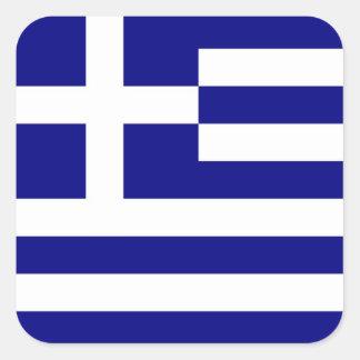 GREECE SQUARE STICKER