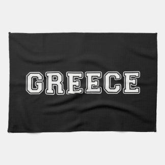 Greece Tea Towel