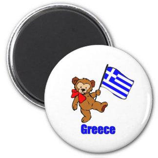 Greece Teddy Bear Magnet