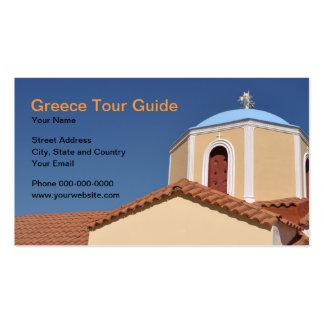 Greece Tour Guide Business Card