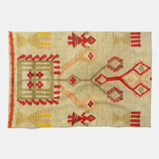 greece traditional ethnic motif greek symbol tea towel