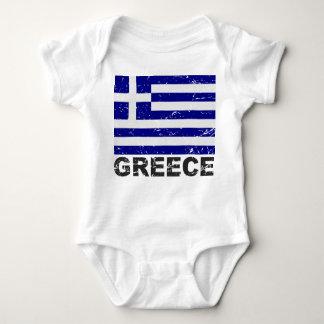 Greece Vintage Flag Baby Bodysuit
