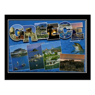 Greece Vintage Travel Postcard Hello From Greece